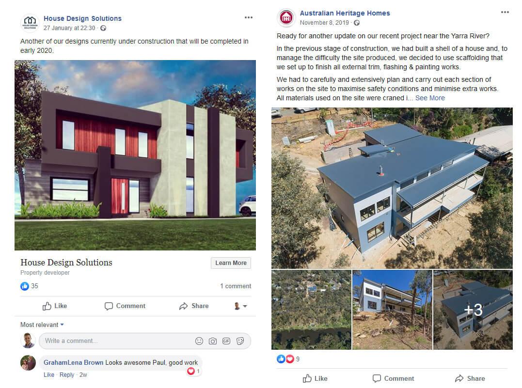 Builders Facebook posts