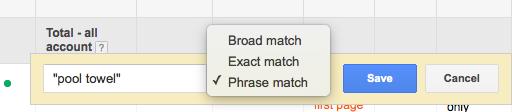 phrase match